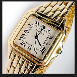 Men's (or unisex) Cartier watch 18k gold