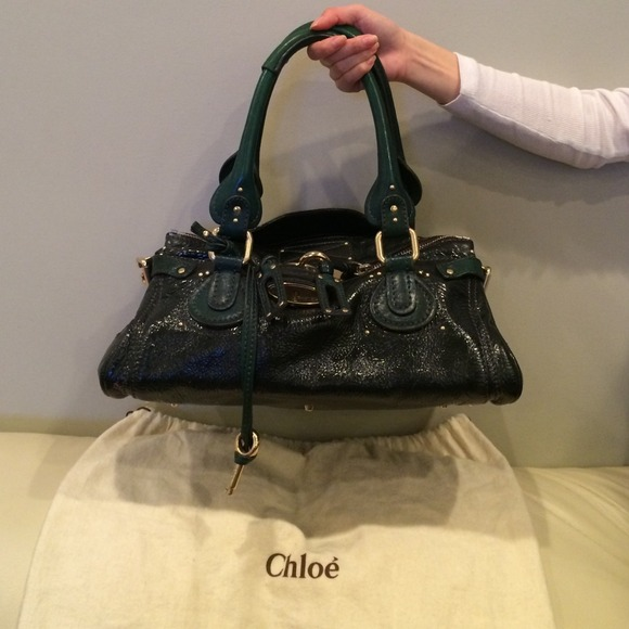 0824577af7 Chloe Handbags - Chloe Emerald Green Paddington Lock handbag