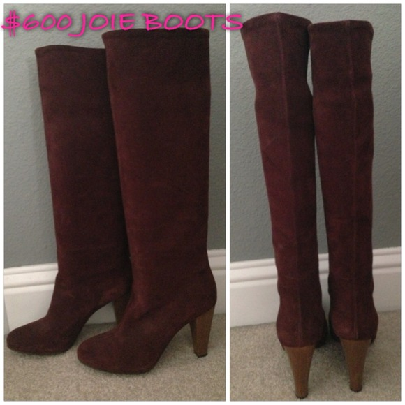 75 joie shoes 600 joie wine burgundy leather knee
