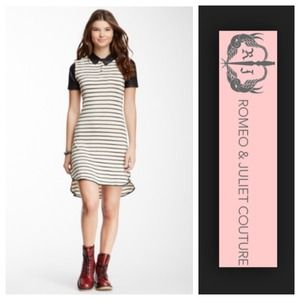 saleRomeo and Juliet Couture Striped Dress NWT