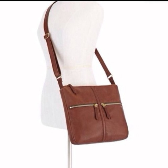 45bb3d8ce488a New Fossil ZB5460200 Erin Crossbody Brown Lady Bag