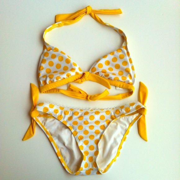 Dots guess bikini yello polka