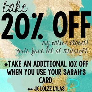Other - Take additional 20% off price shown.