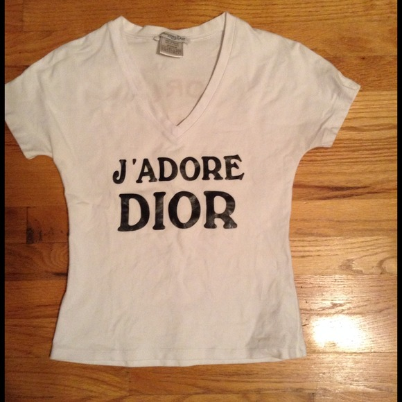 ca8373b9 Christian Dior Tops | Jadore Dior Tee | Poshmark