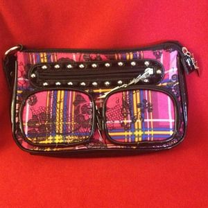 Betseyville Pink Plaid Clutch