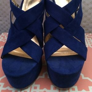 Mossimo Supply Co. Shoes - 🎁traded🎁Blue strappy heels🎉