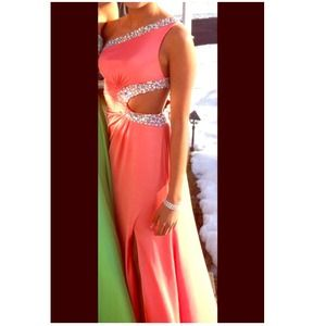 Dresses & Skirts - Light coral prom dress with embellishment