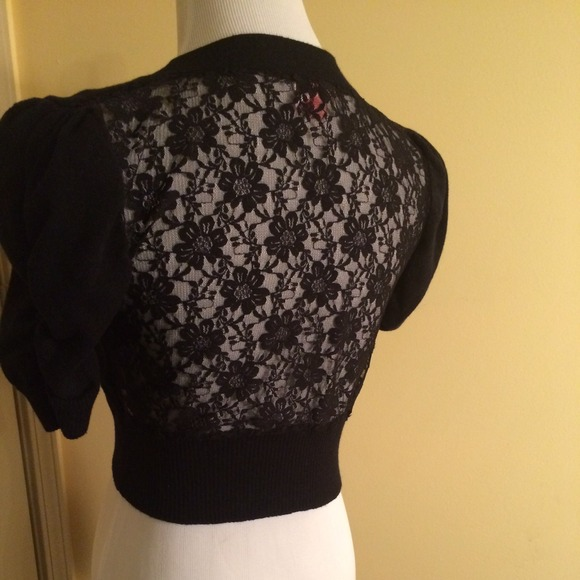 derek heart - Black lace back cropped sweater from Aimee's closet ...