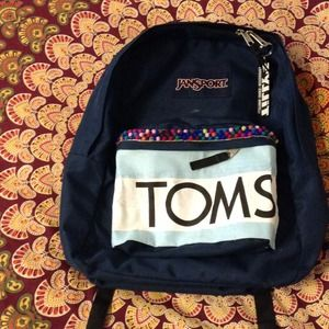 69% off Jansport Handbags - Navy blue customized jansport backpack ...