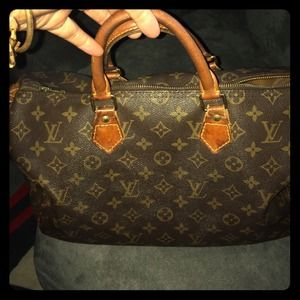 Vantage Authentic Louis Vuitton speedy 35 DCvi0942