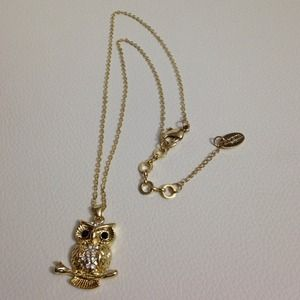 Amrita Singh Jewelry - Amrita Singh Gold Owl Necklace
