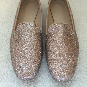 J.Crew Glitter Loafers