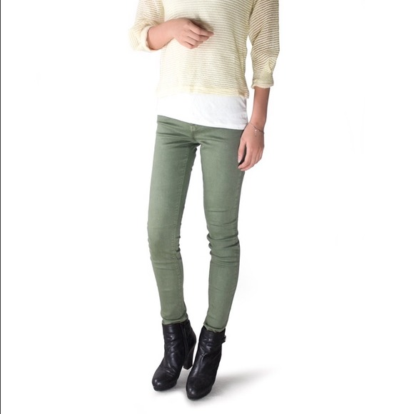 Images of High Waisted Green Jeans - Reikian