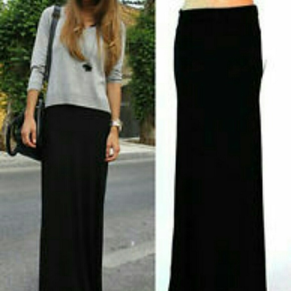 35% off Cotton On Dresses & Skirts - Cotton On Black Maxi Skirt ...