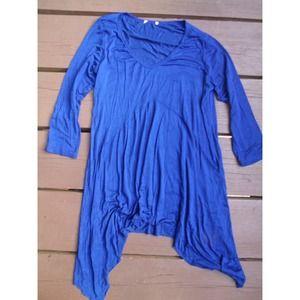 No Brand Tops - Soft blue asymmetrical tunic