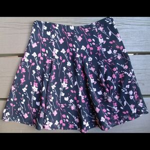 Express Dresses & Skirts - Black and pink floral flowy skirt
