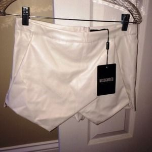 Missguided white skort