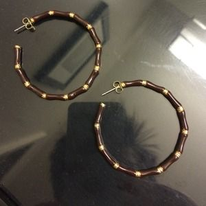 Banana Republic brown enamel hoops
