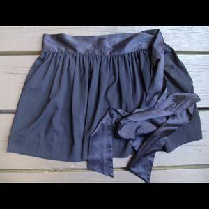 BCBGeneration Dresses & Skirts - Black chiffon skirt with sash