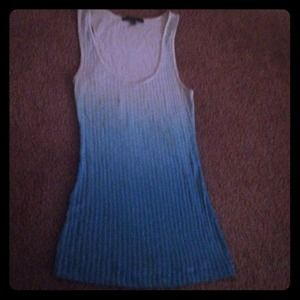 Express Mint Turquoise Sequin Tank Top Xs
