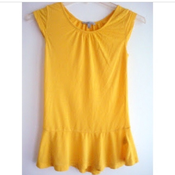 Charlotte Russe Tops - Charlotte Russe Mustard Peplum Top, Size XS