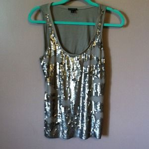 Express sequin tank top size small