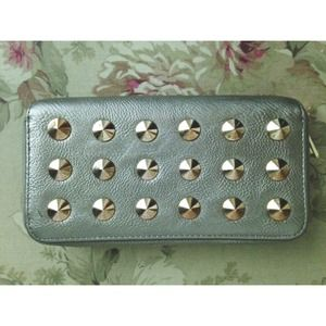 Under One Sky Handbags - Silver/Gold Studded Wallet