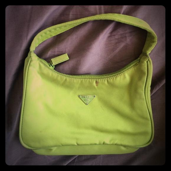 106338d76d germany authentic lime green prada mini bag 6071b a65cc