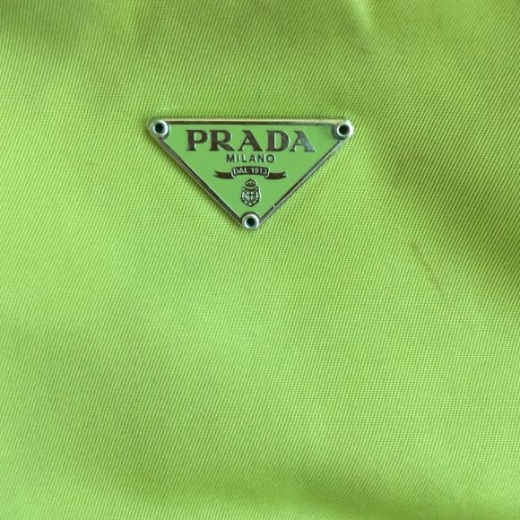original prada bag - 97% off Prada Clutches \u0026amp; Wallets - Authentic Lime green Prada mini ...