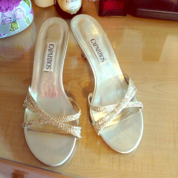 2aecc5a1faa Gold kitten heels