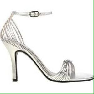 Chinese Laundry Shoes - Strappy Silver Stilettos!
