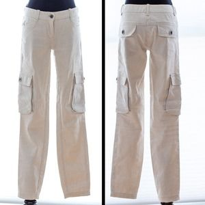 *REDUCED, WAS $30* MAX STUDIO linen cargo pants