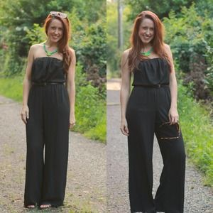 Dresses & Skirts - Black, strapless jumpsuit