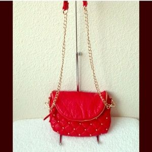 HP Red Quilted crossbody / clutch Bag