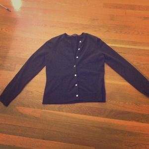 Lands End black cardigan
