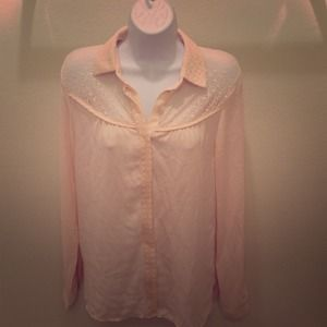 Tops - Lace chiffon button up