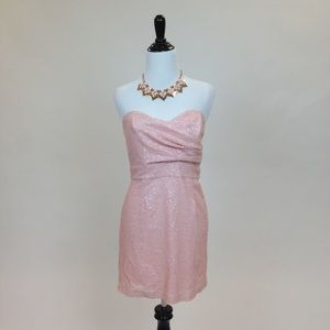 ASOS Dresses & Skirts - Pale Pink Bandeau Sequin Dress
