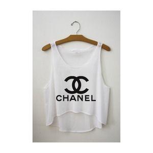 TopsByTai Tops - Chanel Logo Tank