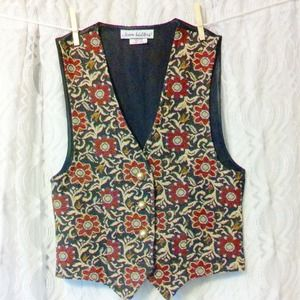 Vintage Floral Vest