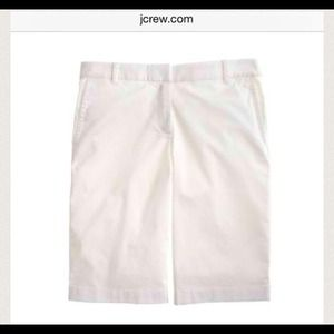 J Crew City Fit White Shorts