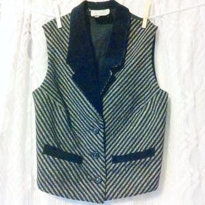 Black & White Striped Vest