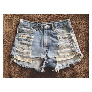 Levi's Jeans - (SOLD)✖️Levi High-Waisted Shorts 1