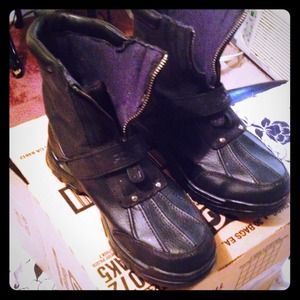 Black Ralph Lauren Polo Boots