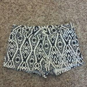 High waisted Aztec shorts