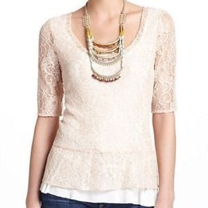 Peplum Lace Top from Anthropologie