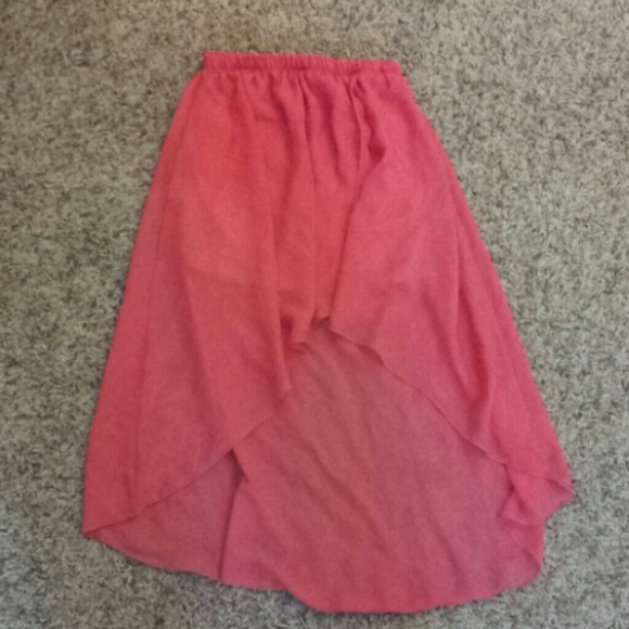 43 dresses skirts pink high low skirt from s