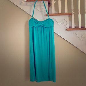 J.Crew Beach Cover up - Teal/Aqua Blue Dress Sz Xs