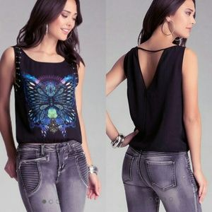 bebe Tops - Embellished Top by Bebe NWT