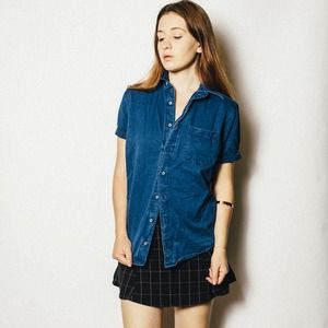 Tops - Denim Button Down Shirt