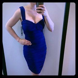 Nicole Miller Sapphire Blue Dress